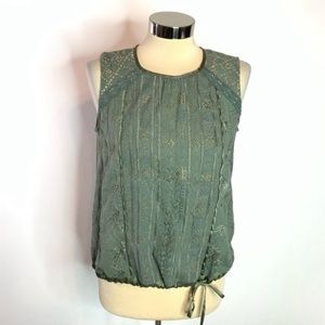Anthropologie tiny embroidered tank top